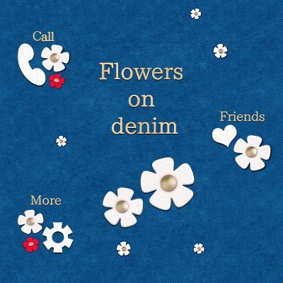 Flowers on denim
